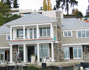 Waterfront House Front Exterior